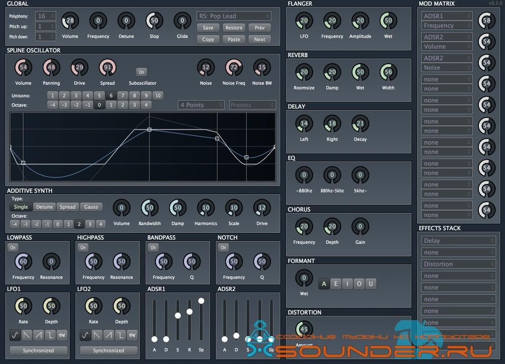 Brain Control Tunefish - синтезатор VSTi