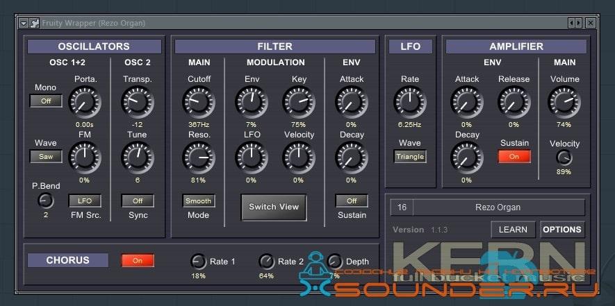 Скриншот плагина Kern