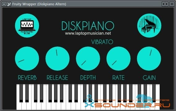 Screenshot diskpiano
