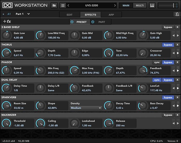 UVI Workstation Effects